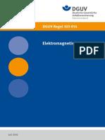 DGUV 103-014 Elektromagnetische Felder