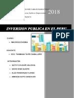 INVERSIÓN PUBLICA
