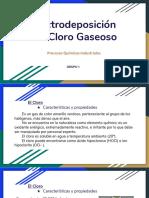 electrodeposicion del cloro gaseoso