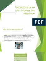 Productos que se pueden obtener del propileno.pptx