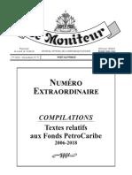 Compilations Textes Relatifs Aux Fonds Petrocaribe Moniteur, Haiti