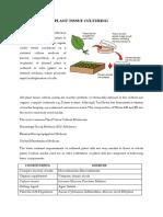 Plant Tissue Culturing