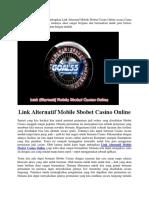 Link Alternatif Mobile Sbobet Casino Online