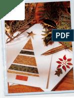 DIY Christmas Card Pattern Recycle Die Cut