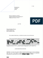 Auto de la sección quinta de la Audiencia Provincial de Barcelona