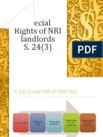 Special Rights of NRI Landlords
