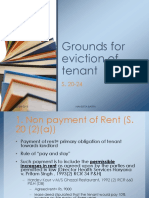 Grounds for Eviction of Tenant