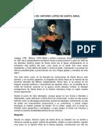 Biografía de Santa Anna