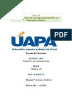 Brayan Taera II La Evaluacion de Los Aprendizajes en La Educacion Basica