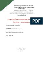 Los Diseños Experimentales - Técnicas e Instrumentos