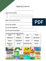 reading inventory-portfolio