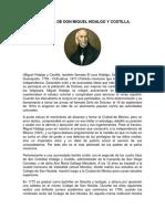Biografía de Don Miguel Hidalgo y Costilla