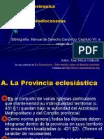 DCI 21. Estructuras Supradiocesanas