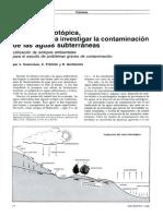 Hidrología isotópica, un medio para investigar la contaminación de las aguas subterráneas