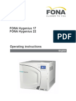 Fona Hygenius Operator's Manual