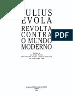 Julius Evola Revolta Contra o Mundo Moderno