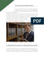 El Principio de Legalidad en El Derecho Penal