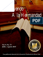 Instruyendo a La Hermandad Julio Agosto 2015