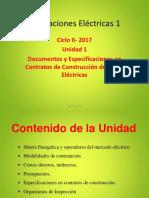 2017 Unidad I- Iee115 Documentos y Especificaciones en Contratos de Construcción de Obras Eléctricas