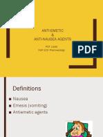 Antiemetics and Antinausea