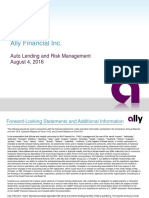 Ally Financial - Auto Lending and Risk Management - 2016