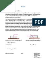 Mechanics Summary