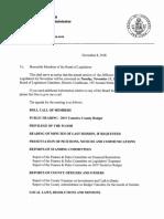 Jefferson County Board of Legislators agenda Nov.13, 2018