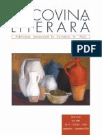 Bucovina literară Nr.-Nr. 9-10 2018