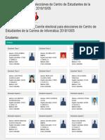 Resultados Del Sorteo Comite Electoral Para Elecciones de Centro de Estudiantes de La Carrera de Informática