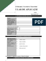 Formular de Aplicatie Proiecte Educative