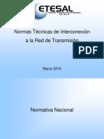 Normativa técnia a la red de transmisión el Salvador