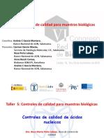 Controles de Calidad de Acidos Nucleicos Congreso Rosa Pinto