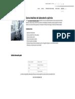Curso Analista de Laboratorio Químico - Formación Académica