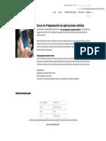 Curso de Programación de Aplicaciones Móviles - Formación Académica