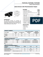 Vishay Optosensor Datasheet
