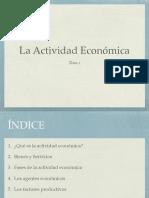 La actividad económica