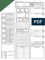Dungeons and Dragons Class Character Sheet Warlock V1.3