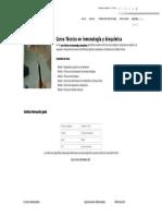 Curso Técnico en Inmunología y Bioquímica - Formación Académica