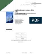 Curso Técnico de Analisis Cromosómicos y Ácidos Nucléicos - Formación Académica