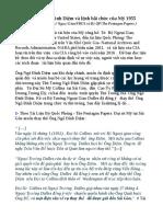 CIA:Thủ Tướng Ngô Đình Diệm Và Lệnh Bãi Chức Của Mỹ 1955