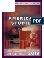 American Studies Catalog 2019 (Stanford University Press)