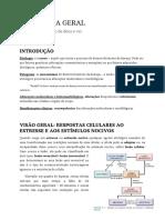 Resumo - Patologia (Robbins) Lesão, morte, adaptações, inflamação e reparo