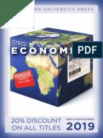 Economics Catalog 2019 (Stanford University Press)