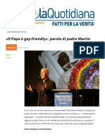 """Papa Francesco è Gay-Friendly"""