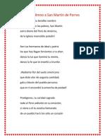 Himno a San Martín de Porres