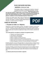 Plan de Visitación Pastoral Distrito