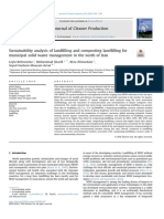 Analisis de Sustentabilidad de Vertederos y Compostacion Verteeros Para La Gestion de Residuos Solidos Municipales en El Norte de Iran