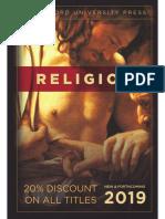 Religion Catalog 2019 (Stanford University Press)