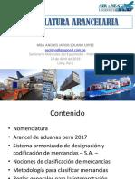 nomenclatura arancelaria 2017
