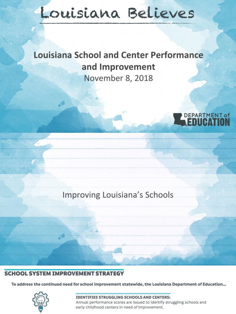 2017 2018 Louisiana Department Of Education School And Center